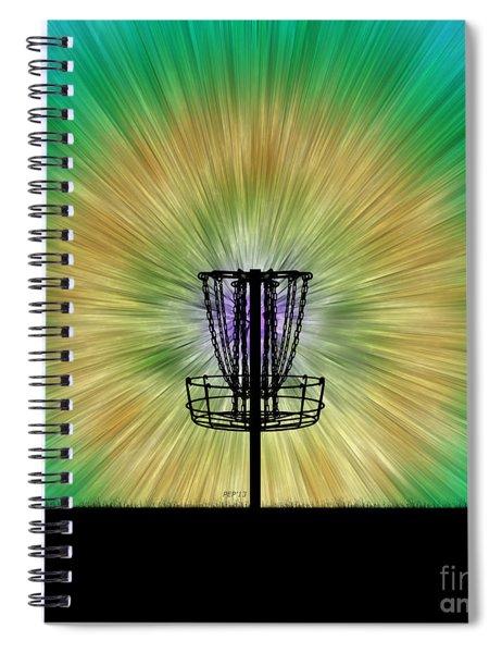 Tie Dye Disc Golf Basket Spiral Notebook