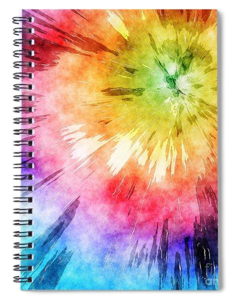 Tie Dye Watercolor Spiral Notebook