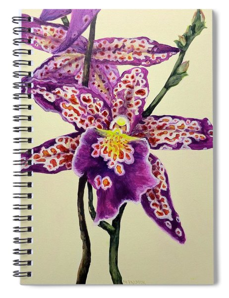 Tiger Orchid Spiral Notebook