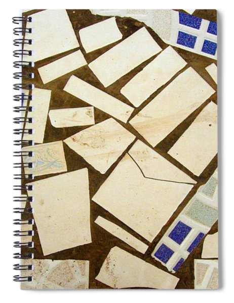 Tile Pieces In Brown Grout Spiral Notebook