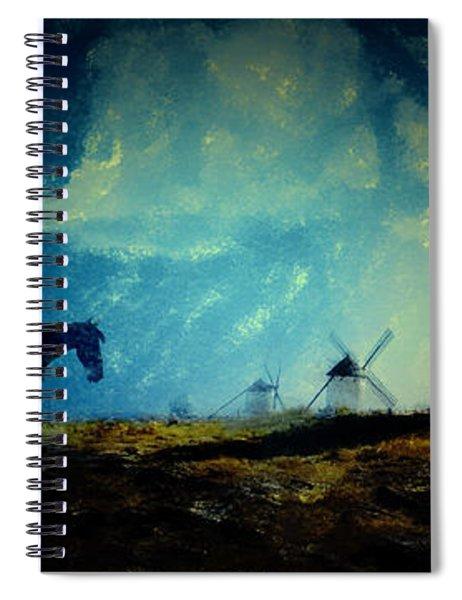 Tilting At Windmills Spiral Notebook