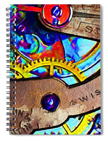 Time Waits For Nobody 20130605 Square Spiral Notebook