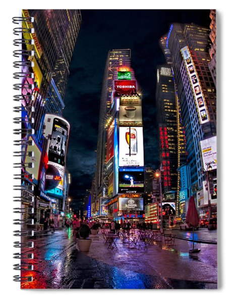 Times Square New York City The City That Never Sleeps Spiral Notebook