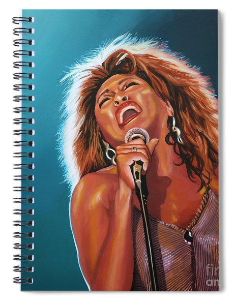 Tina Turner 3 Spiral Notebook