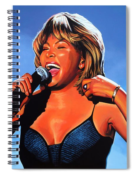 Tina Turner Queen Of Rock Spiral Notebook