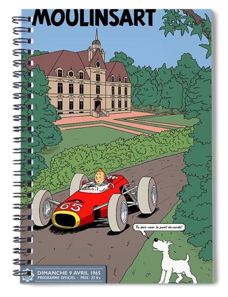 Tintin Grand Prix De Moulinsart 1965  Spiral Notebook