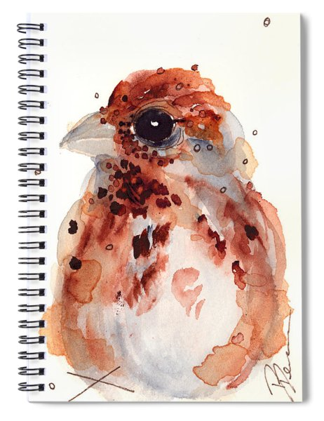 Tiny Sparrow Spiral Notebook
