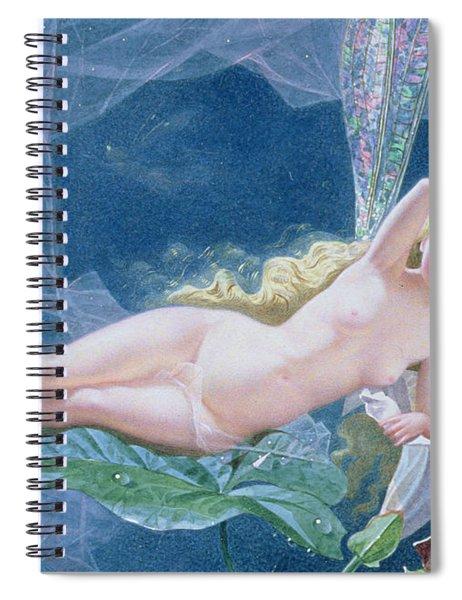 Titania Lying On A Leaf  Spiral Notebook