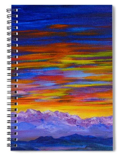 Tobacco Root Mountains Sunset Spiral Notebook