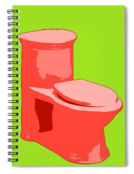 Toilette In Red Spiral Notebook