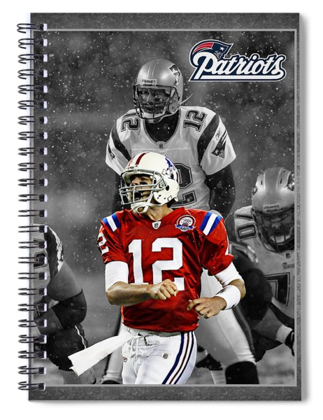 Tom Brady Patriots Spiral Notebook