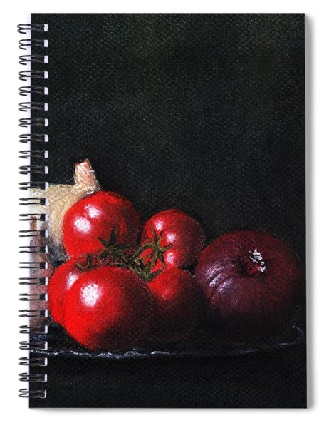 Tomatoes And Onions Spiral Notebook