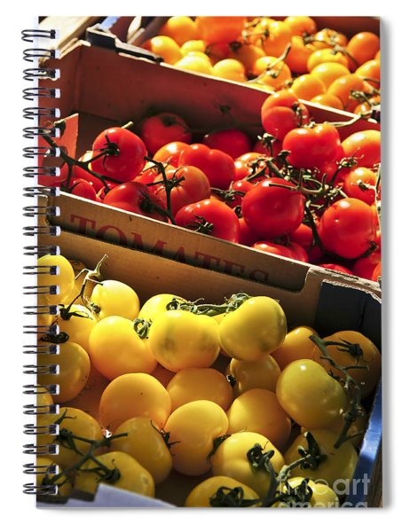Tomatoes On The Market Spiral Notebook