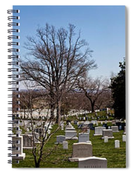 Tombstones In A Cemetery, Arlington Spiral Notebook