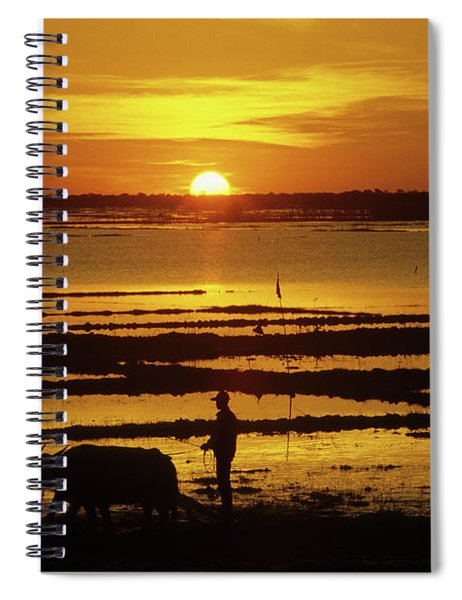 Tonle Sap Sunrise 01 Spiral Notebook