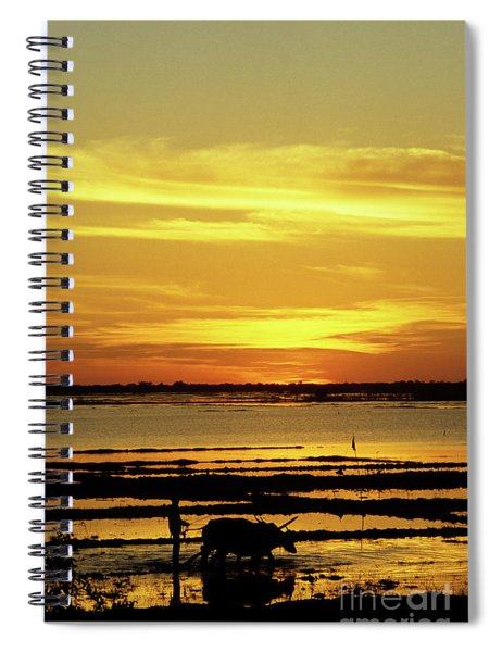 Tonle Sap Sunrise 02 Spiral Notebook