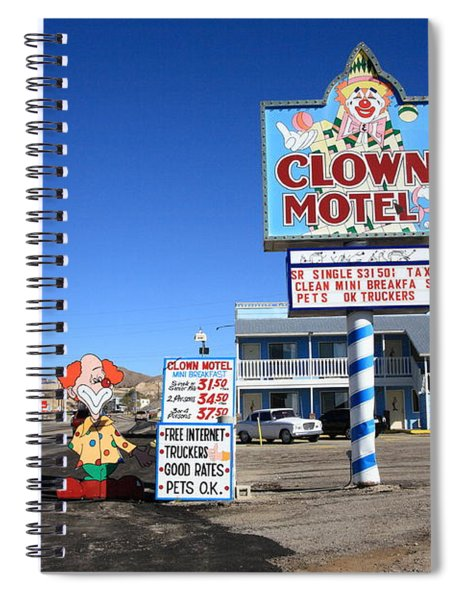 Tonopah Nevada - Clown Motel Spiral Notebook