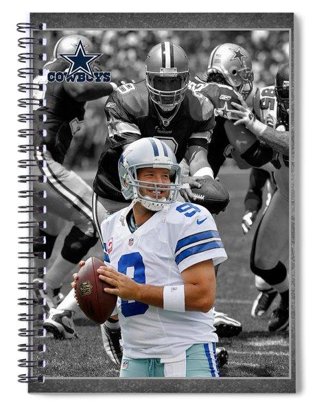 Tony Romo Cowboys Spiral Notebook