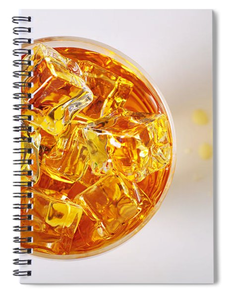 Top View On Drink Spiral Notebook