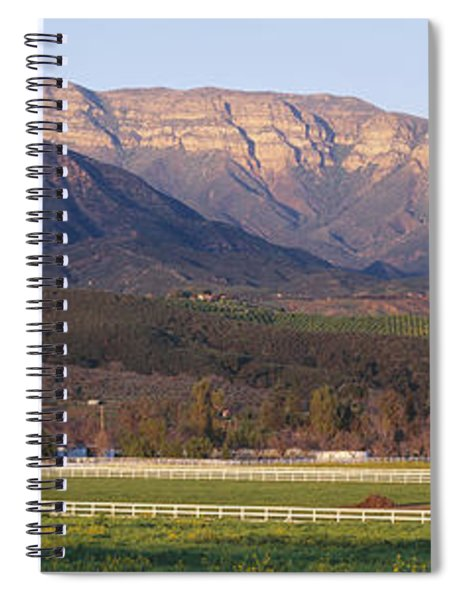 Topa Topa Bluffs Overlooking Ranches Spiral Notebook