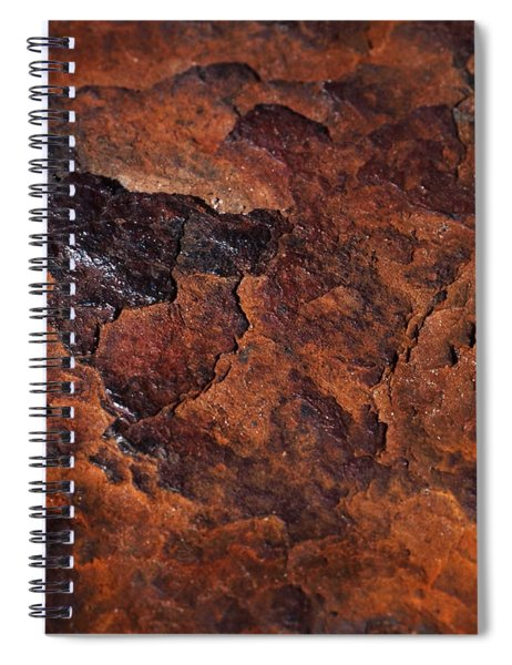 Topography Of Rust Spiral Notebook