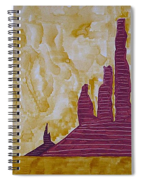 Totem Pole Monument Original Painting Spiral Notebook