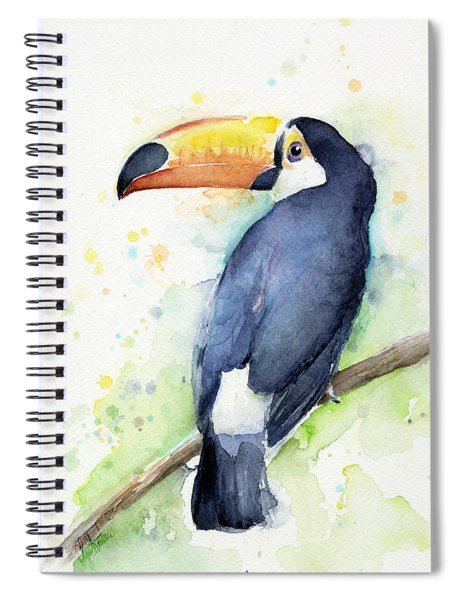 Toucan Watercolor Spiral Notebook