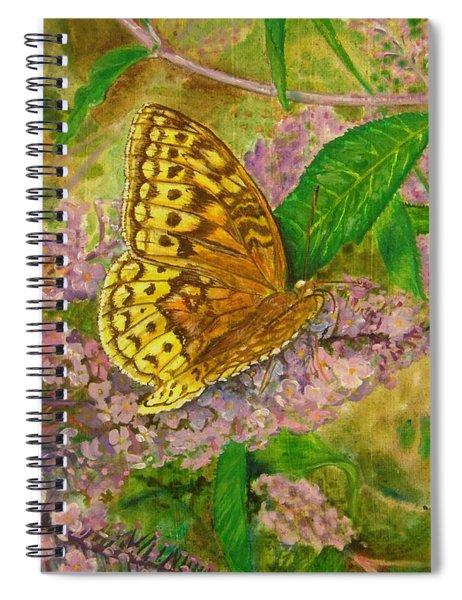 Touchdown On Purple Spiral Notebook