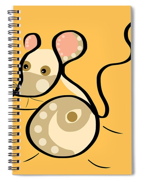 Thoughts And Colors Series Mouse Spiral Notebook