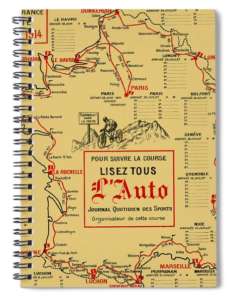 Tour De France 1914 Spiral Notebook by Andrew Fare