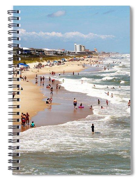 Tourist At Kure Beach Spiral Notebook