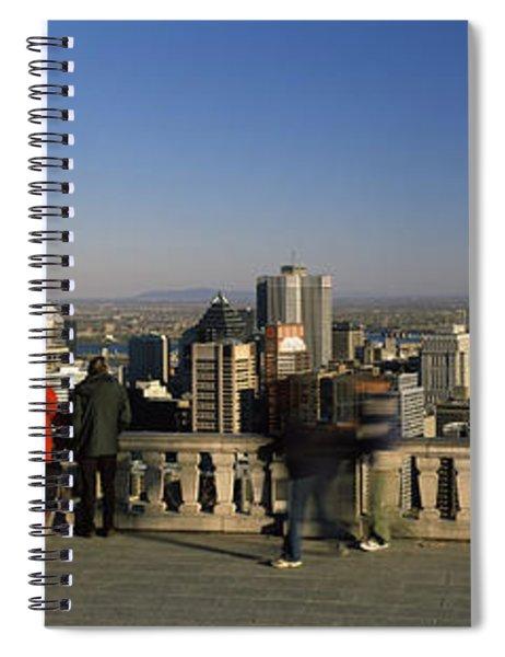 Tourists At An Observation Point Spiral Notebook