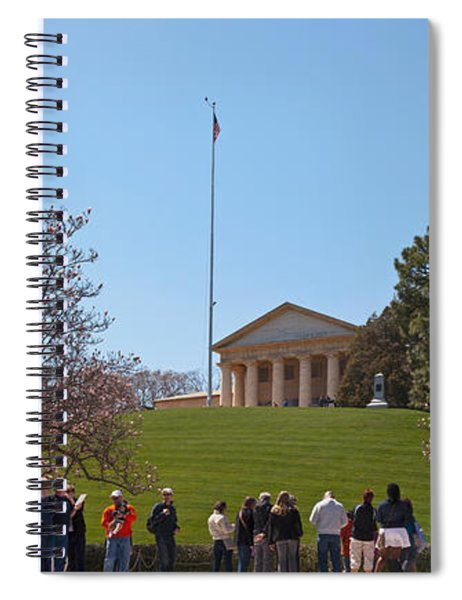 Tourists At The Gravesite Of John F Spiral Notebook