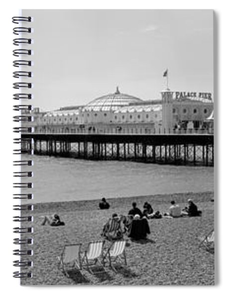 Tourists On The Beach, Brighton, England Spiral Notebook