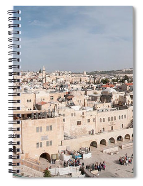 Tourists Praying At A Wall, Wailing Spiral Notebook