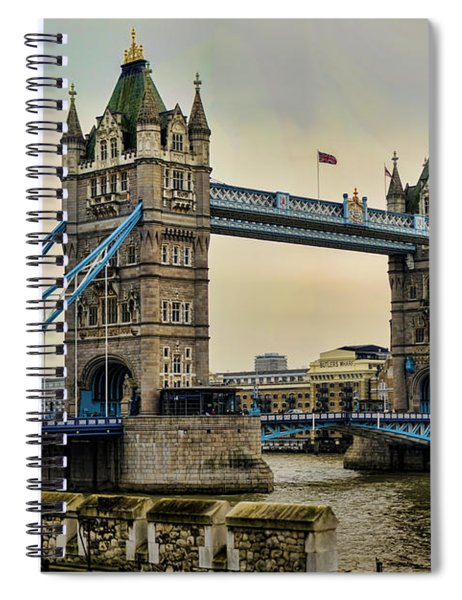 Tower Bridge On The River Thames Spiral Notebook