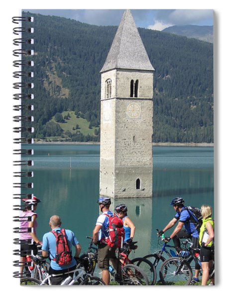 Tower In The Lake Spiral Notebook