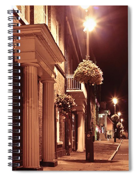 Town At Night Spiral Notebook