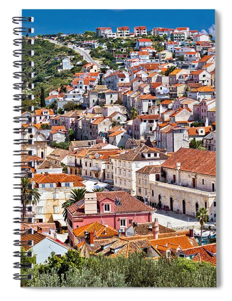 Town Of Hvar Famous Pjaca Square View Spiral Notebook