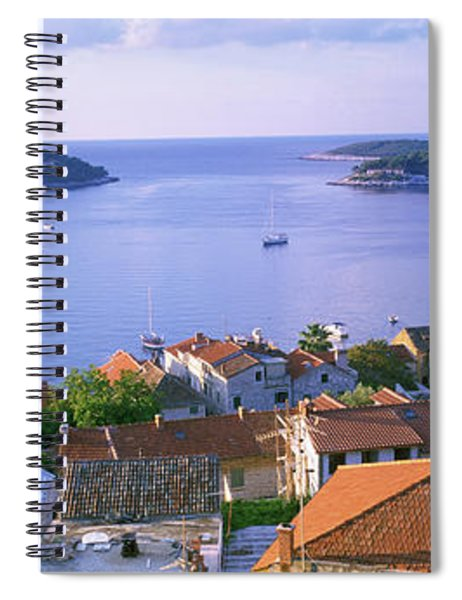 Town On The Waterfront, Hvar Island Spiral Notebook