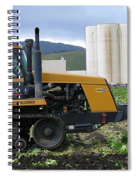 Tractor At Spreckels Spiral Notebook