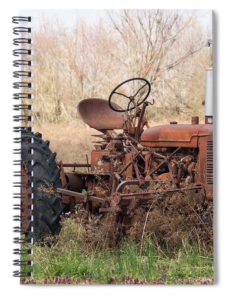 Tractor Of Bygone Days Spiral Notebook