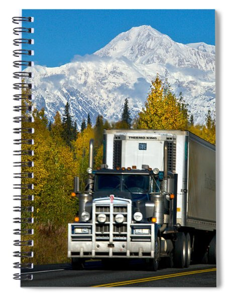 Tractor-trailer Spiral Notebook
