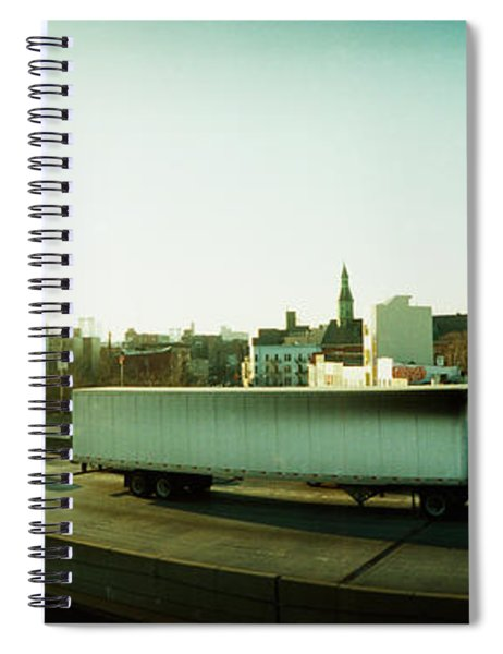 Traffic On An Overpass, Brooklyn-queens Spiral Notebook