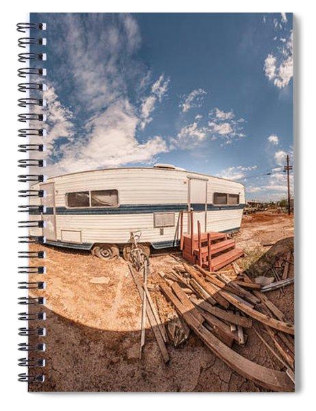 Trailer On Bombay Beach, Salton Sea Spiral Notebook