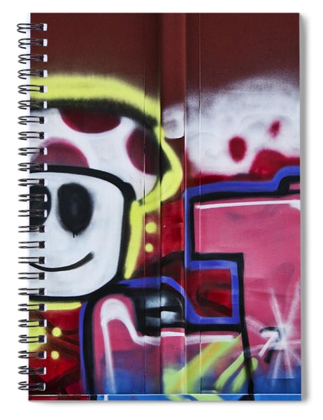 Train Art Cartoon Face Spiral Notebook