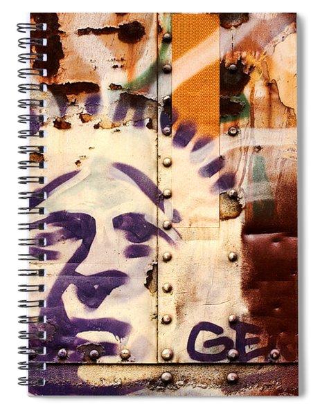 Train Art Statue Of Liberty Spiral Notebook