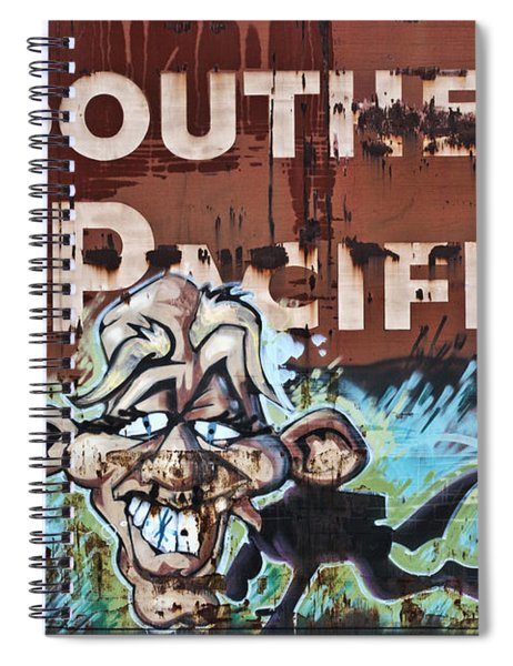 Train Art Swimming With Sharks Spiral Notebook
