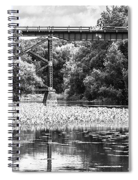 Spiral Notebook featuring the photograph Train Bridge by Garvin Hunter