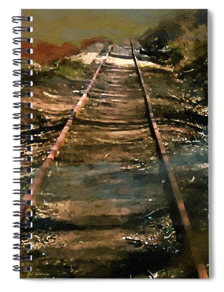 Train Track To Hell Spiral Notebook